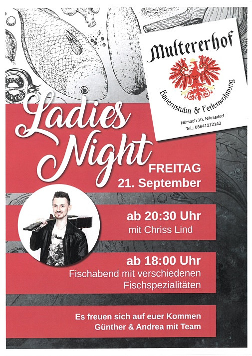 Einladung Ladies Night Multererhof Nörsach